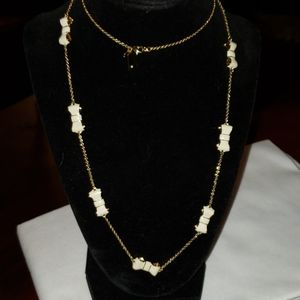 Kate Spade NY Enamel Ivory/Gold Necklace